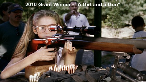 Cathryne Czubek, the producer for the wonderful film, A Girl and A Gun, applied three times before she won.