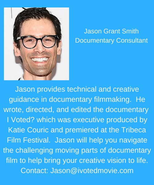 Jason Grant Smith Documentary Consultant Donor Ad